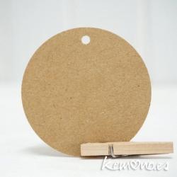 tarjeta kraft circular