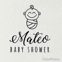 "Sello Baby Shower ""BEBÉ"""