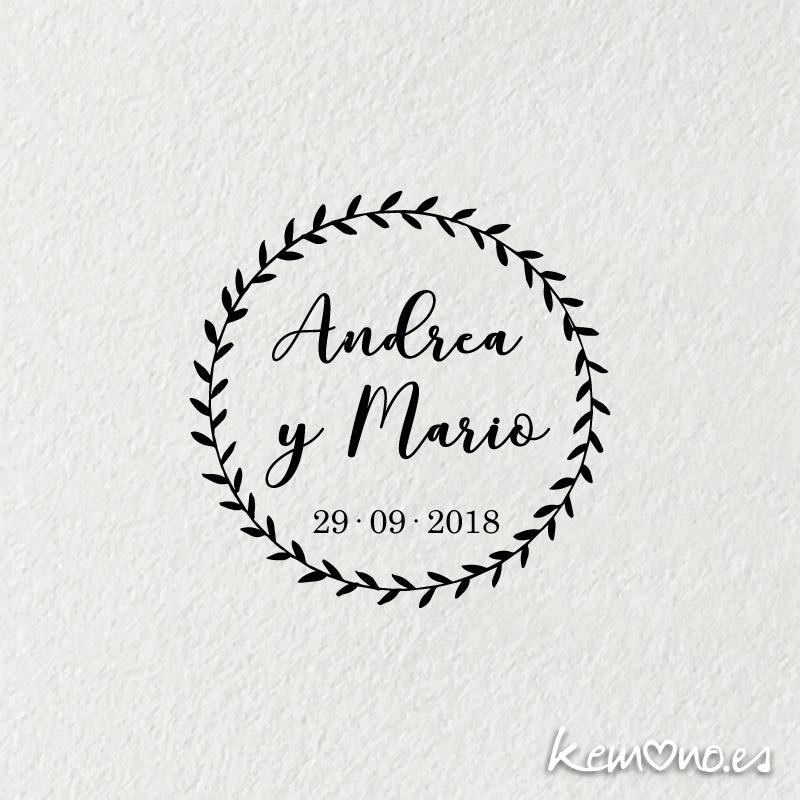 sello boda corona