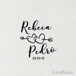 sello boda FLECHAZO
