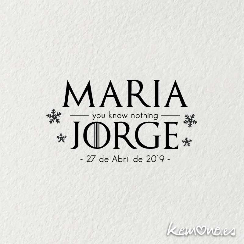 Frase De Matrimonio Juego De Tronos.Sello De Boda Juego De Tronos Original Diseno Bodas Tematicas