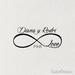 "Sello Boda ""INFINITO LOVE"""