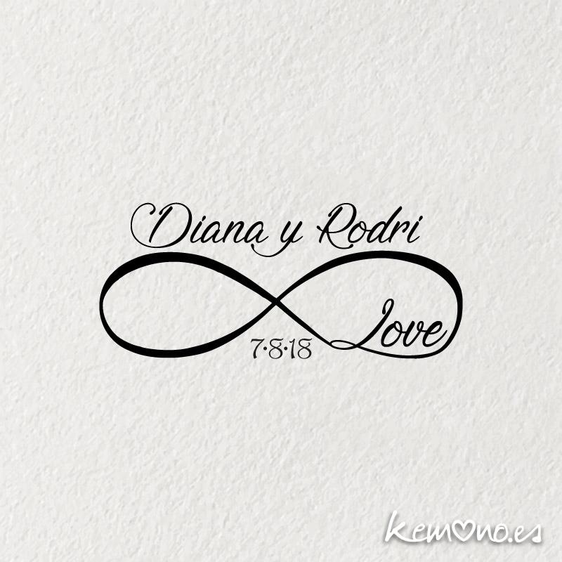 """Sello Boda """"INFINITO LOVE"""""""
