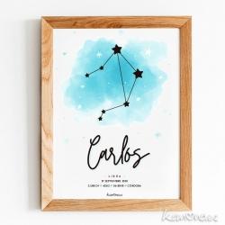 Lámina Nacimiento Constelación. ESTRELLAS NIÑO
