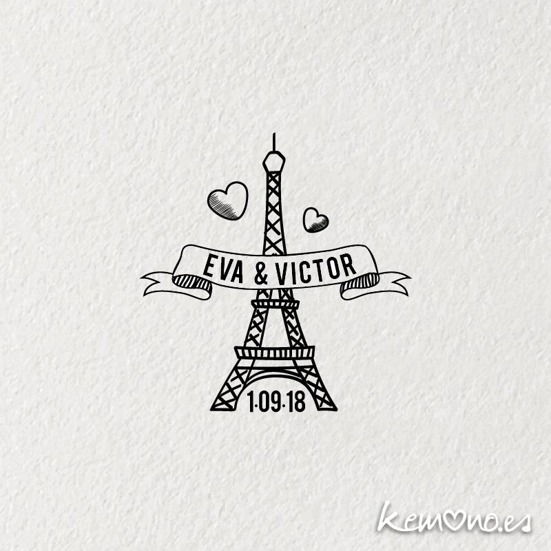 "Sello Boda ""PARIS"""