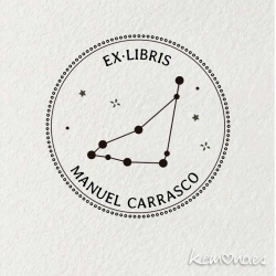 "Ex Libris personal. CONSTELACION ZODIACO ""CAPRICORNIO"""