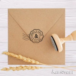 "Sello Boda ""POSTAL AND"""