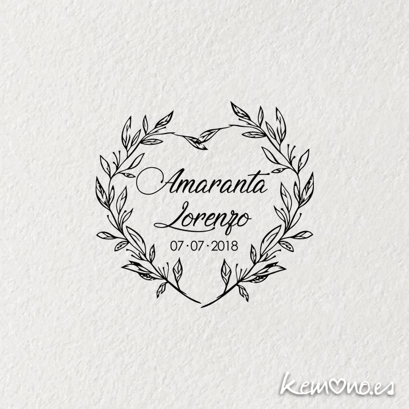"""Sello Boda """"ROMANTICO"""""""