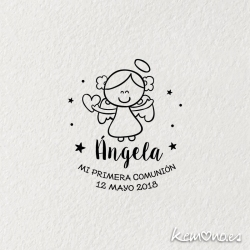 """Sello Primera Comunión """"ANGELITA"""""""