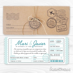 invitacion boarding pass